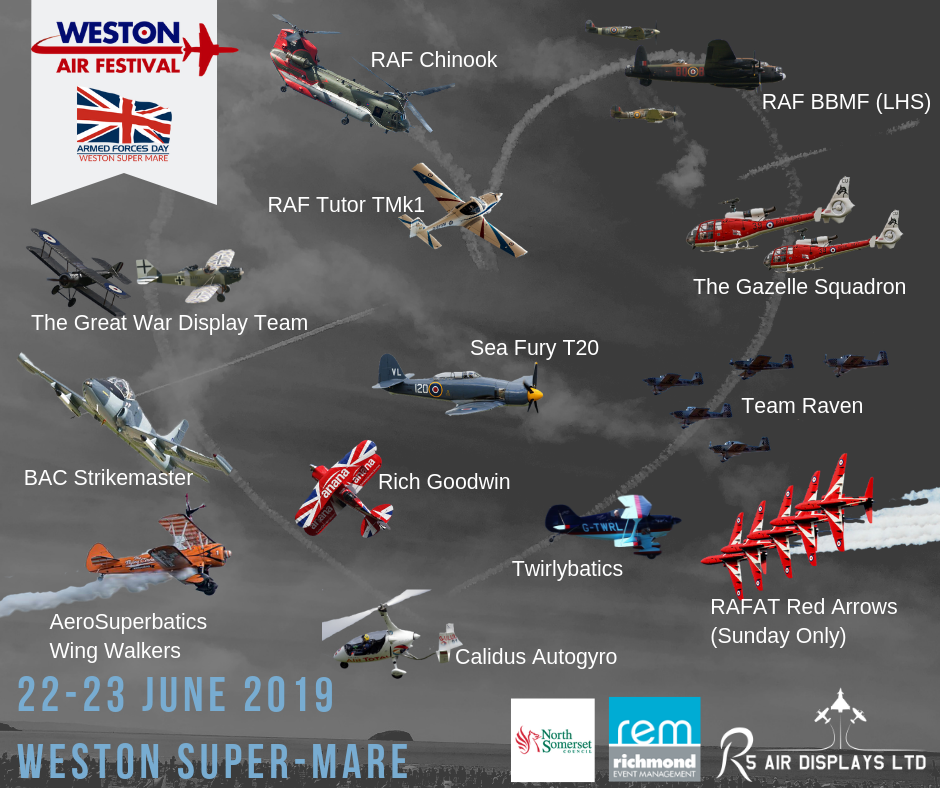 Weston Air Festival, Line Up Announced!