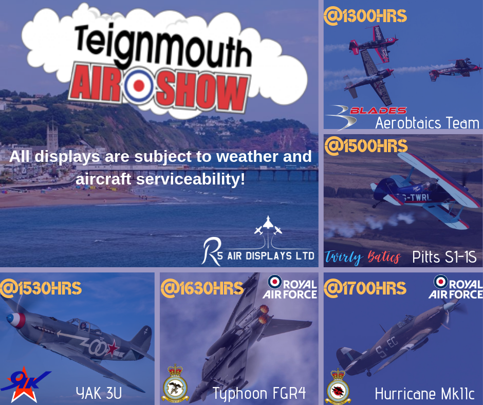 2 Days to go until the first Teignmouth Airshow gets off the ground